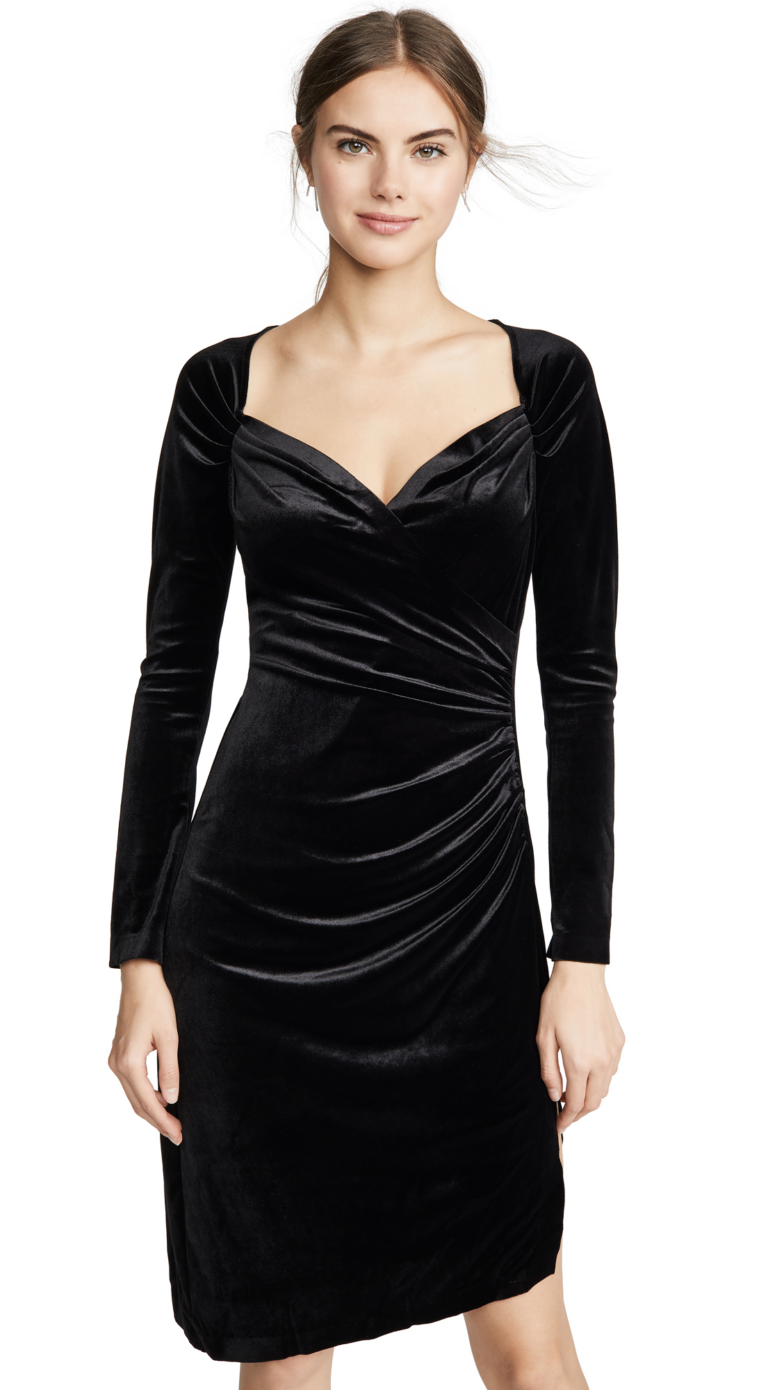 Buy Norma Kamali online - photo of Norma Kamali Sweetheart Side Drape Dress