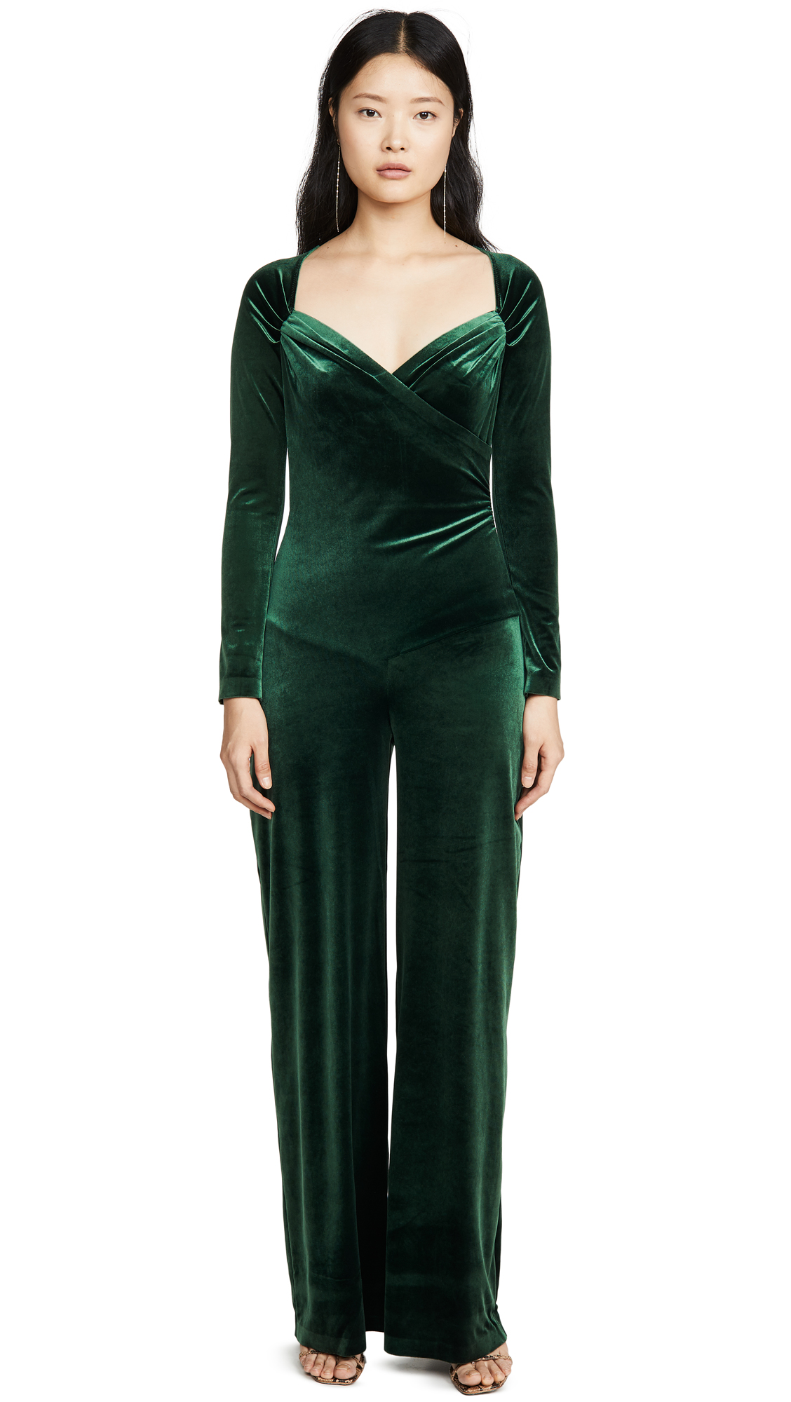 Buy Norma Kamali online - photo of Norma Kamali Sweetheart Side Drape Jumpsuit