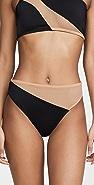 Norma Kamali Snake Mesh Bikini Bottoms