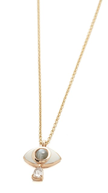 Nora Kogan 10k GoldIris Necklace