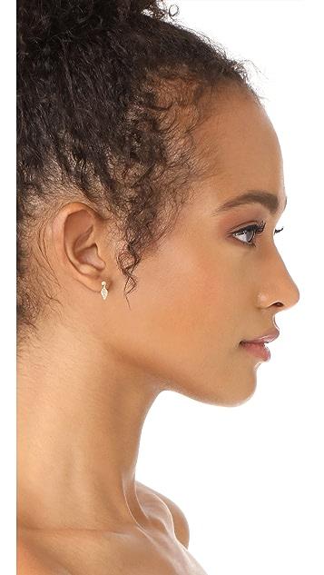 Nora Kogan Rose Leaf Earrings