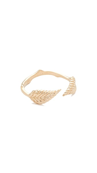 NORA KOGAN 10K Gold Double Leaf Ring