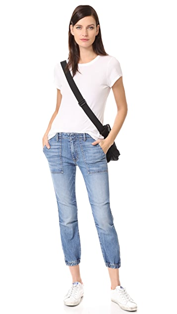 Nili Lotan Cropped French Military Jeans