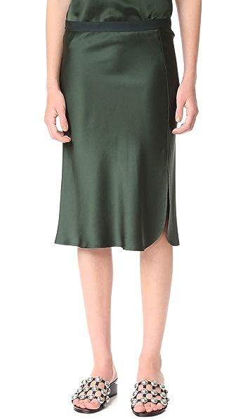 Nili Lotan Lillie Skirt - Pine Green