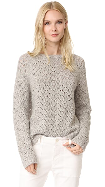 Nili Lotan Millie Sweater - Light Grey Melange