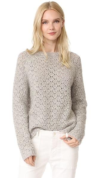 Nili Lotan Millie Sweater - Light Grey Melange