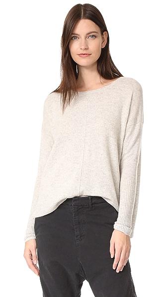 Nili Lotan Sivan Cashmere Sweater In Light Grey Melange