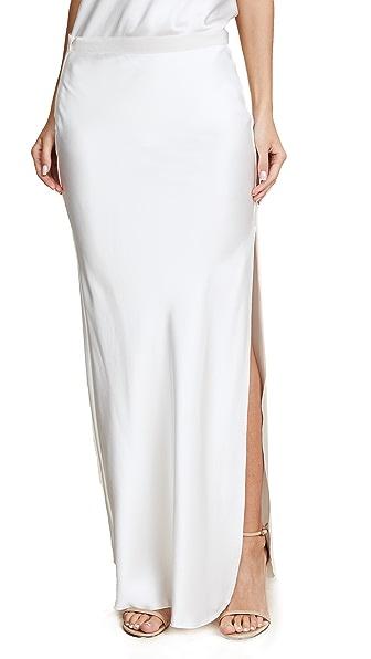 Nili Lotan Maya Maxi Skirt In Ivory