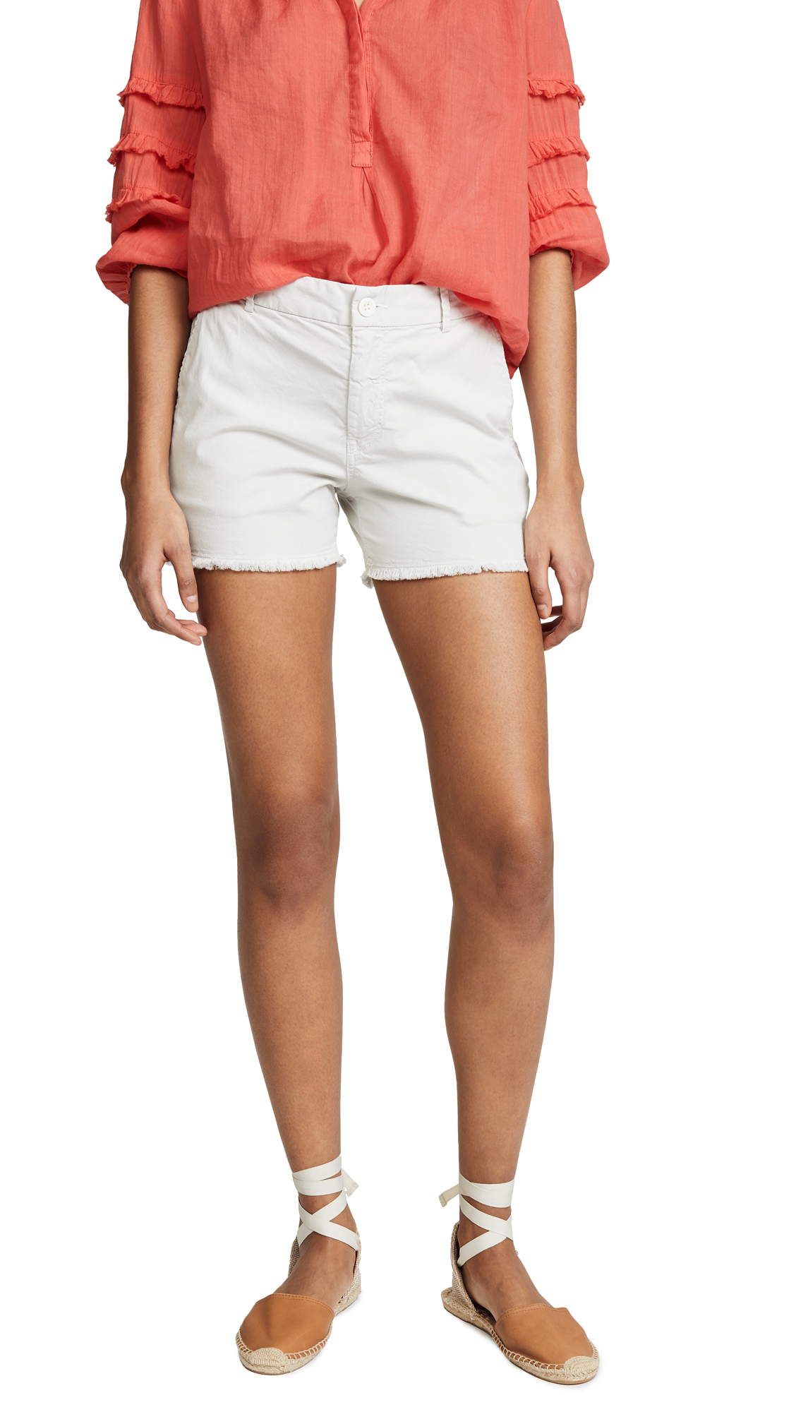 Nili Lotan Carpenter Shorts In Bone