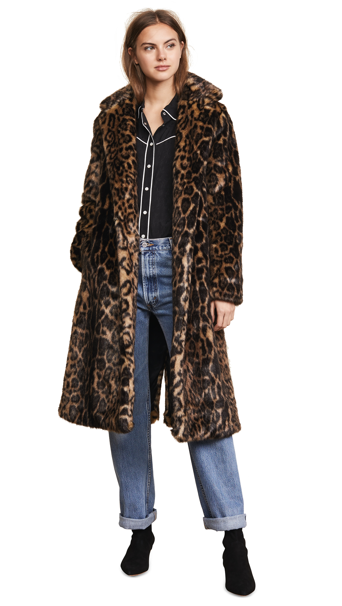 Nili Lotan Marvin Coat In Leopard