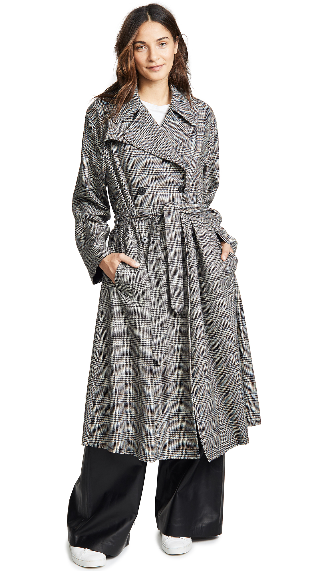 Nili Lotan Topher Coat In Black/White