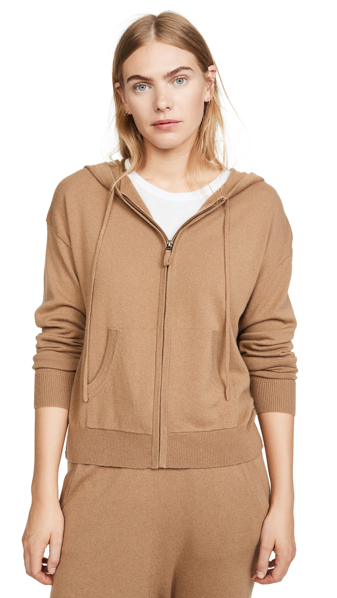 Buy Nili Lotan online - photo of Nili Lotan Emmaline Zip Front Cashmere Hoodie