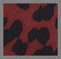 рубиновый с леопардовым принтом
