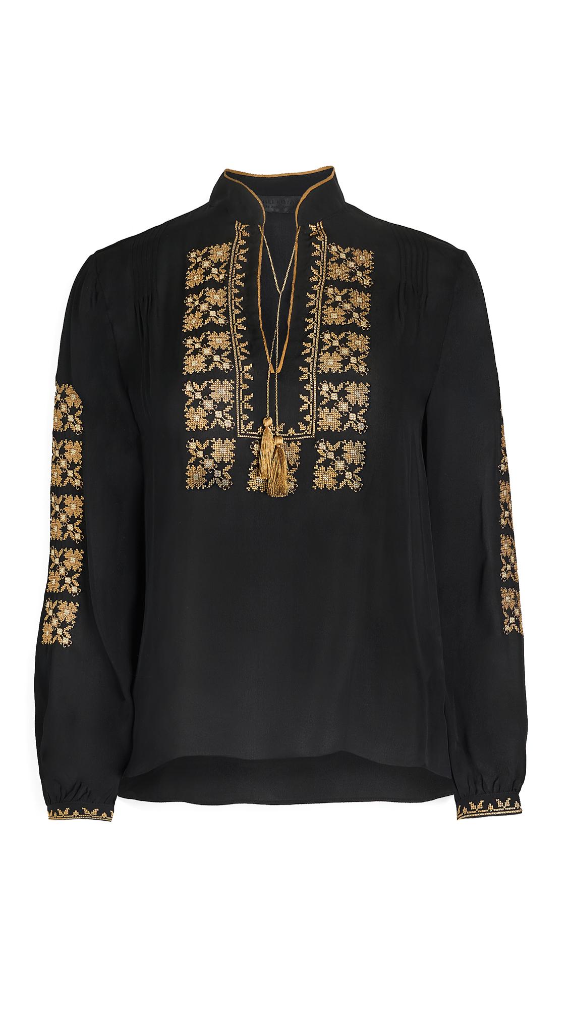 Nili Lotan Karina Palestinian Embroidered Top - 30% Off Sale