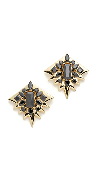 Noir Jewelry Clear Cut Earrings