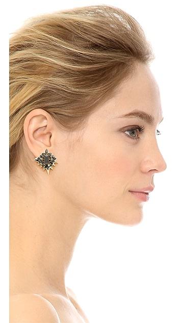Noir Jewelry Clear Cut Earrings