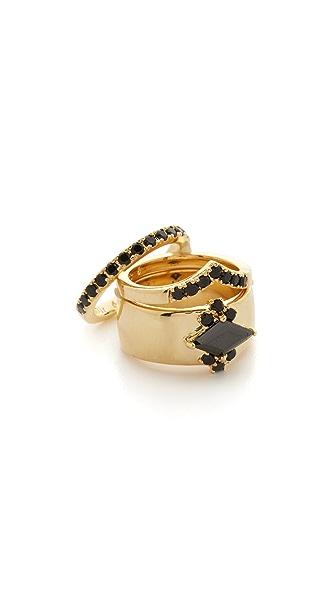 Noir Jewelry Jack Frost Rings Set