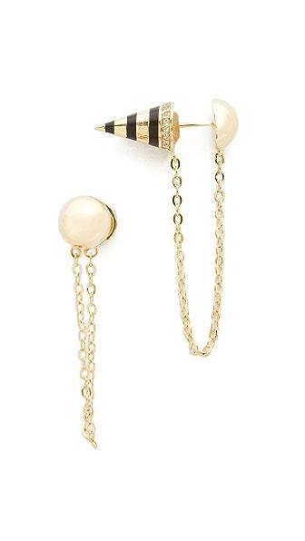 Noir Jewelry Bumblebee Earrings