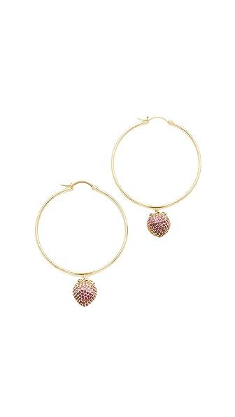 Noir Jewelry Strawberry Hoop Earrings