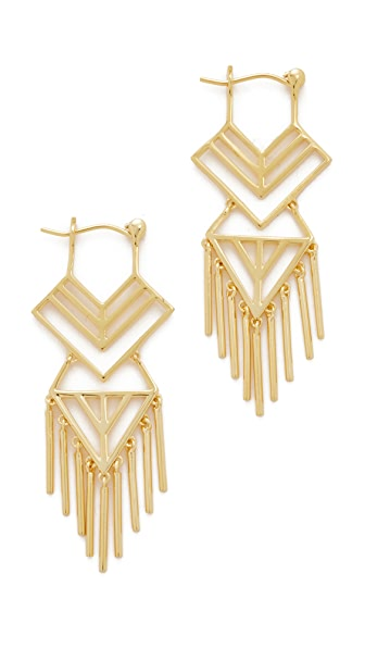 Noir Jewelry Aztec Earrings In Gold