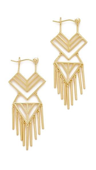 Noir Jewelry Aztec Earrings - Gold