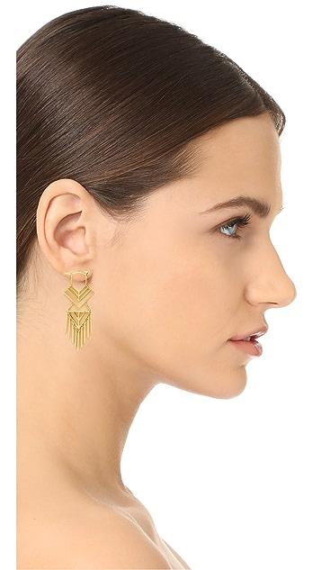 Noir Jewelry Aztec Earrings