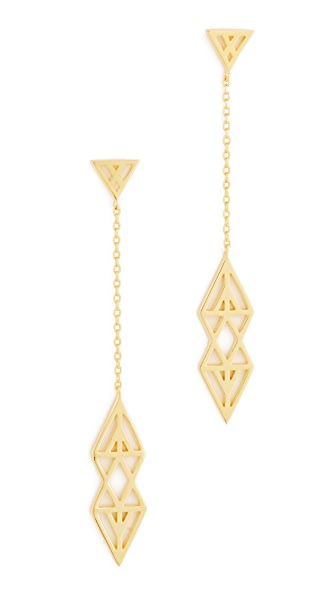 Noir Jewelry Ikat Earrings In Gold