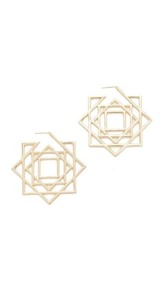 Noir Jewelry Sunset Ocean Earrings - Gold