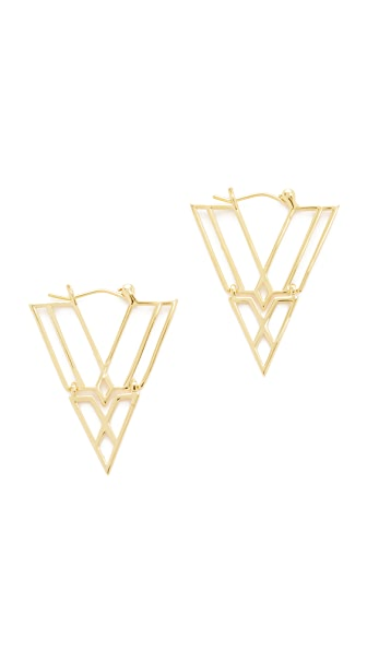 Noir Jewelry Clan Earrings In Gold