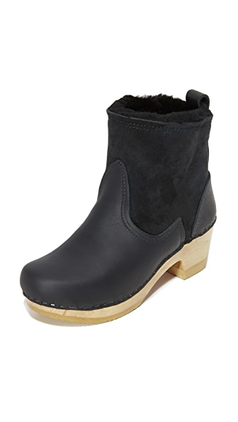 No.6 Shearling Booties - Black
