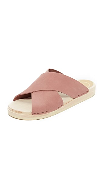 No.6 Frida Flat Clogs - Blush