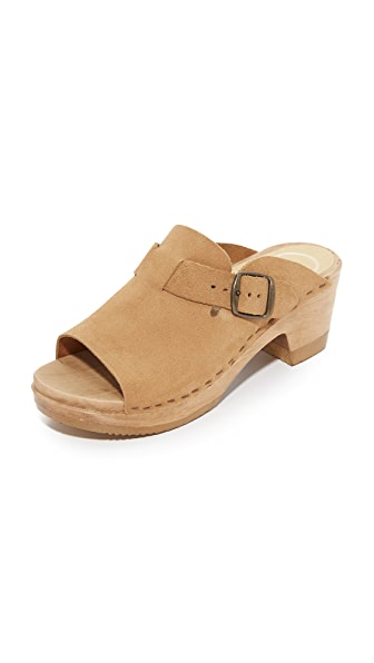 No.6 Sadie Mid Heel Clogs - Sand