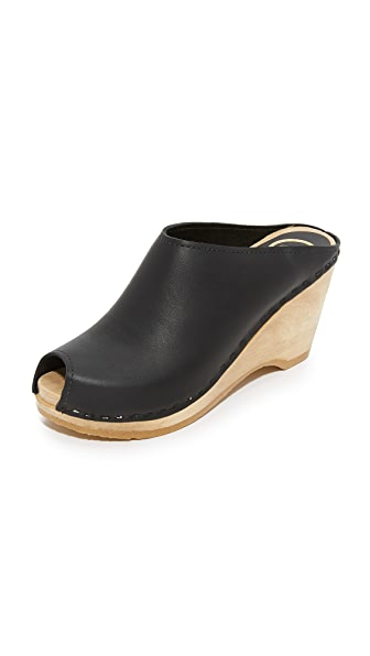 No.6 Avery Wedge Clogs - Black