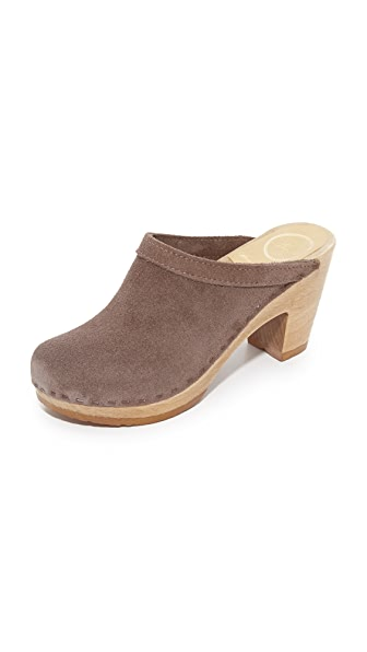 No.6 Old School Clogs - Light Grey