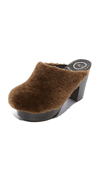 No.6 x Collina Strada Kira Platform Clogs In Hazel/Coffee