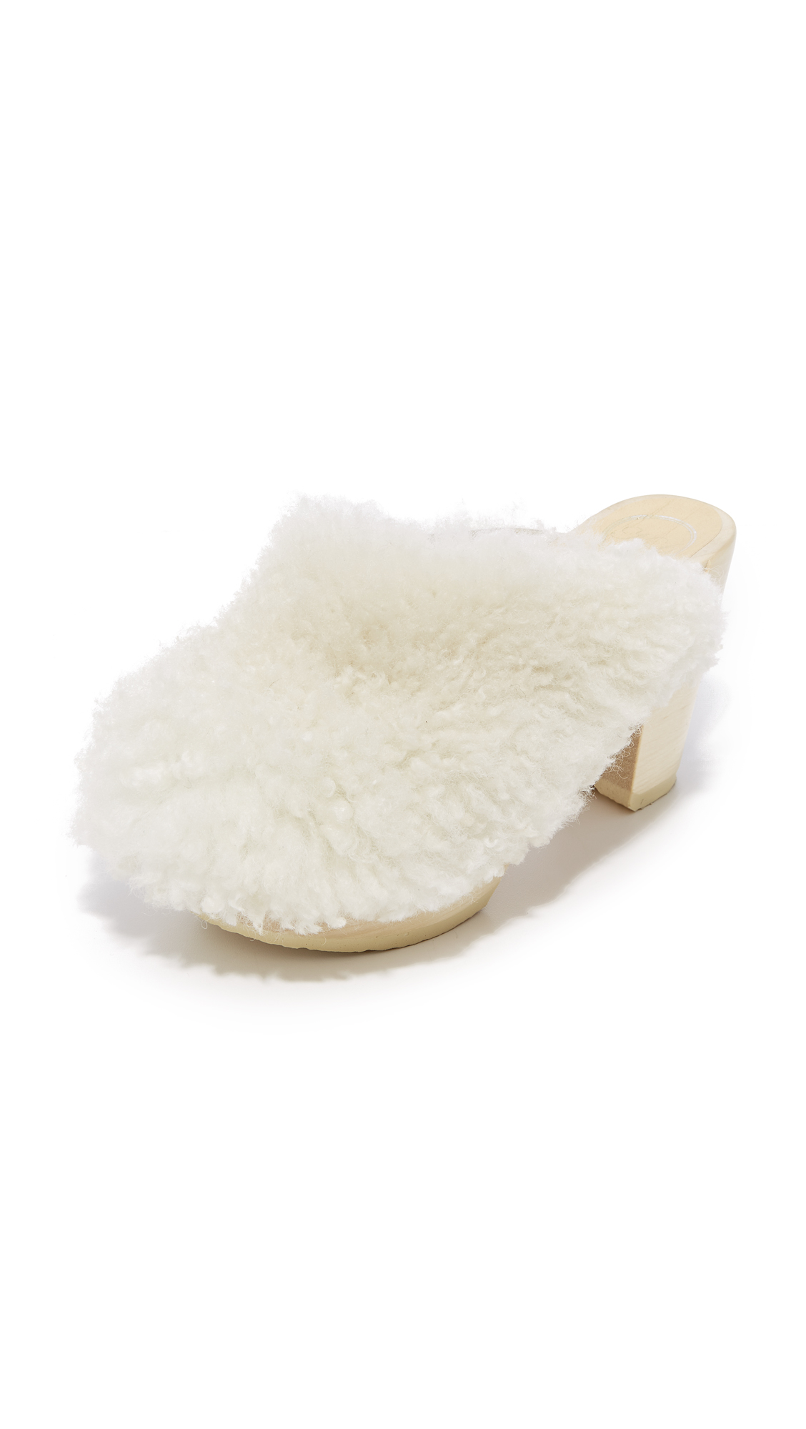 No.6 x Collina Strada Kira Platform Clogs - Blonde/White
