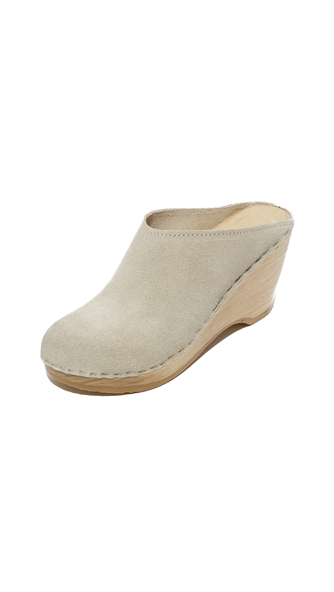 No.6 New School Clogs - Chalk