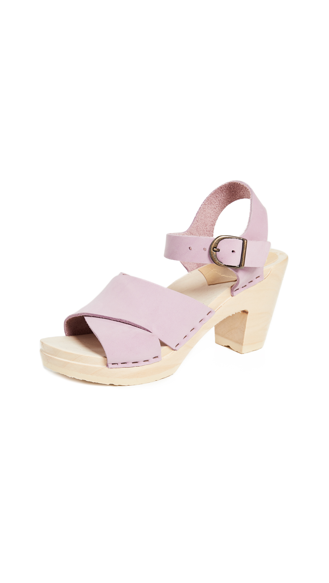 No.6 Coco Sandals with Crisscross Straps - Violet
