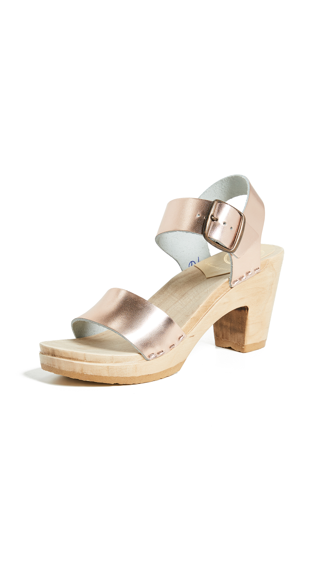 No.6 Two Strap Clogs - Rose Gold