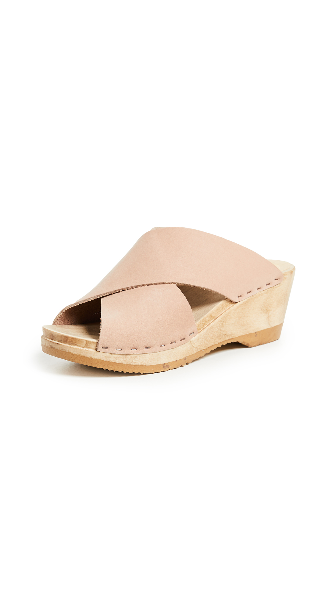 No.6 Frida Wedge Clogs - Pink Sand