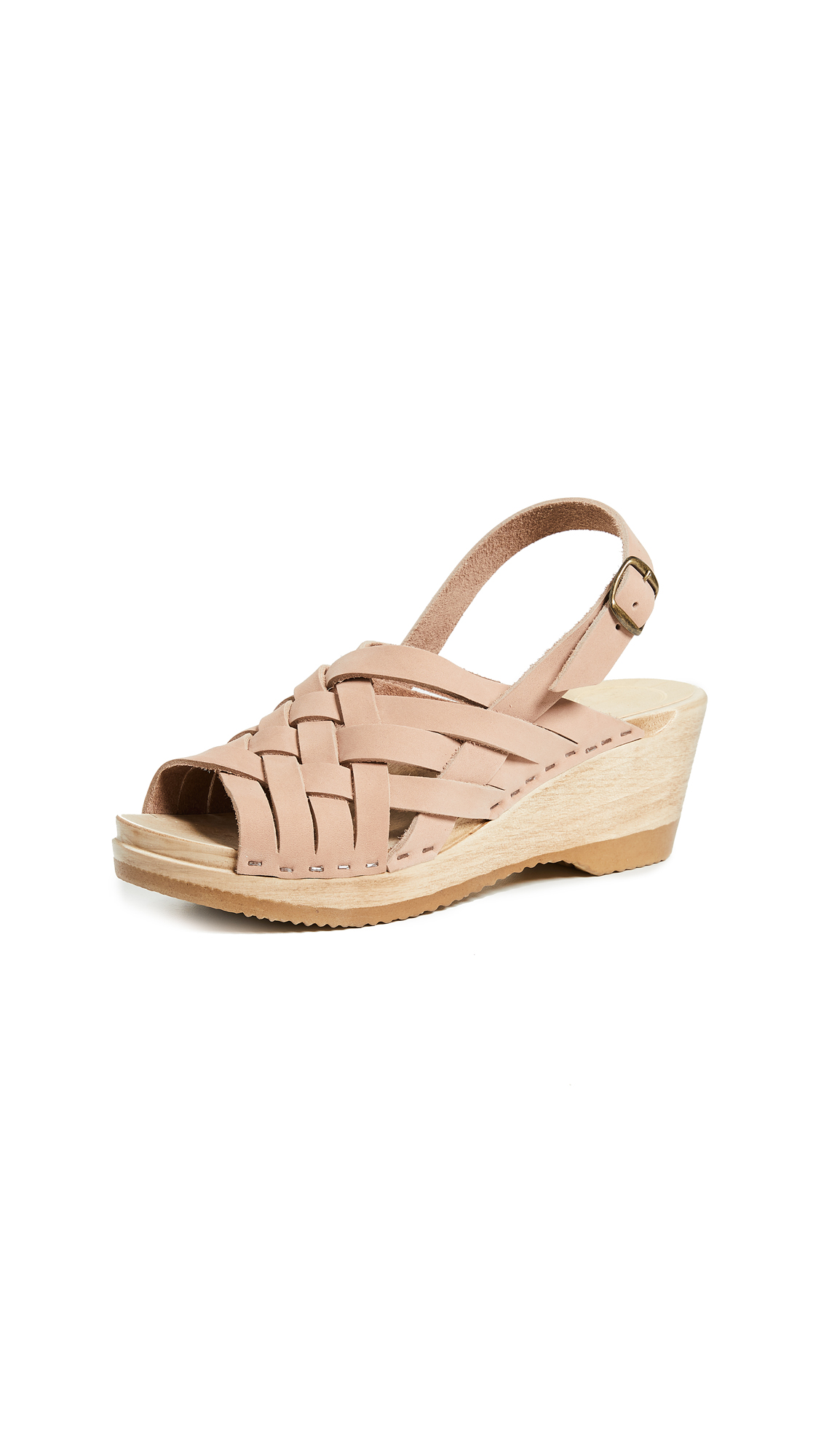 No.6 Catskill Braided Slingbacks - Pink Sand