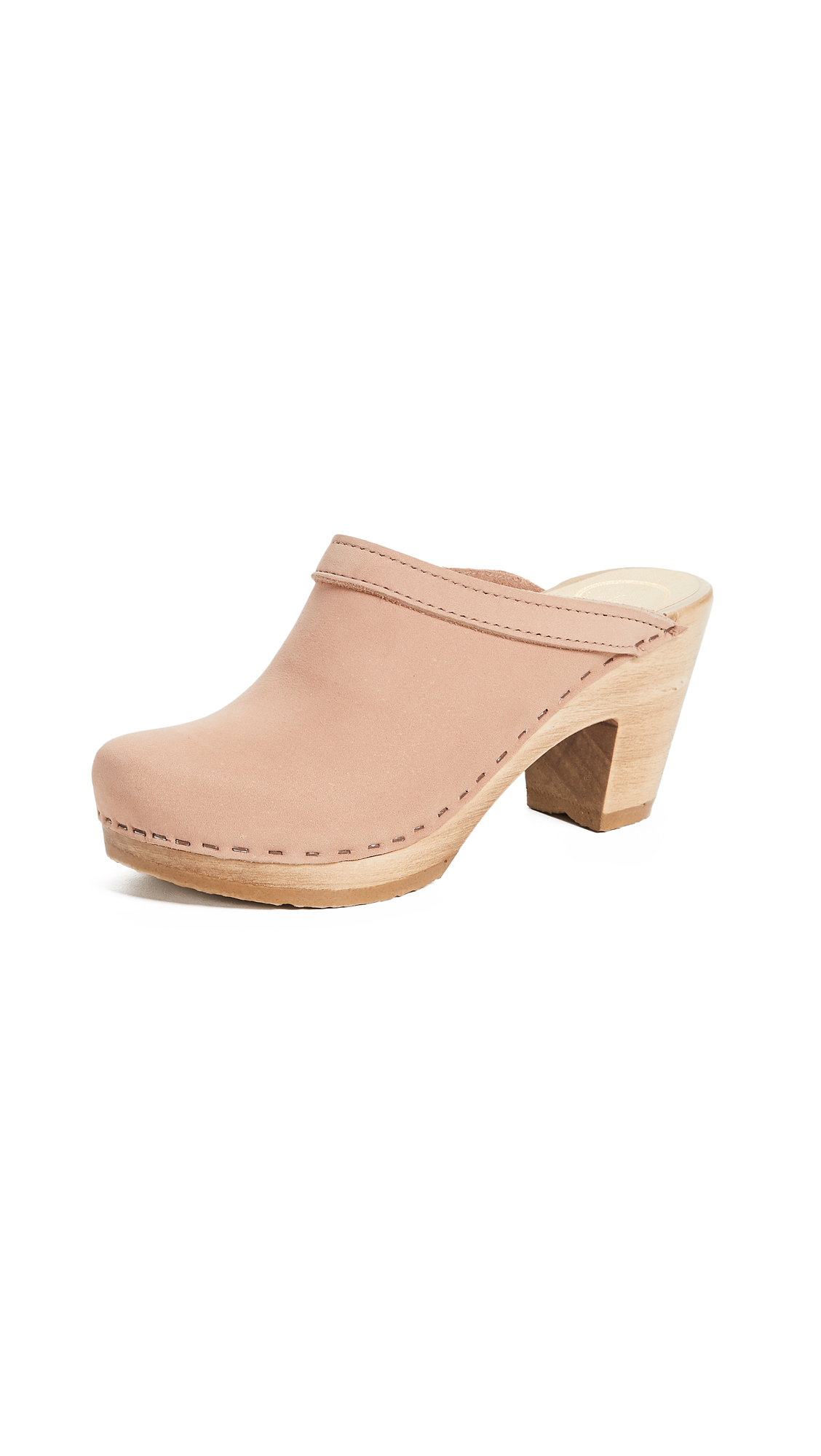 No.6 Old School High Heel Clogs - Pink Sand