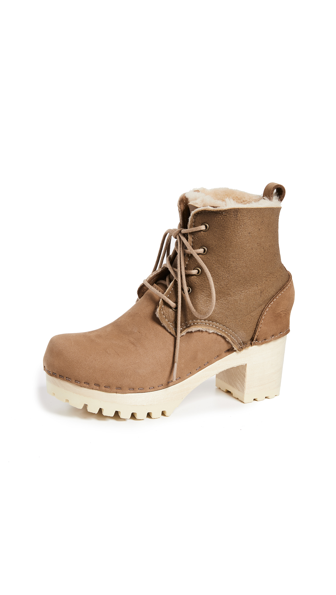 No.6 Lander Lace Up Shearling Boots