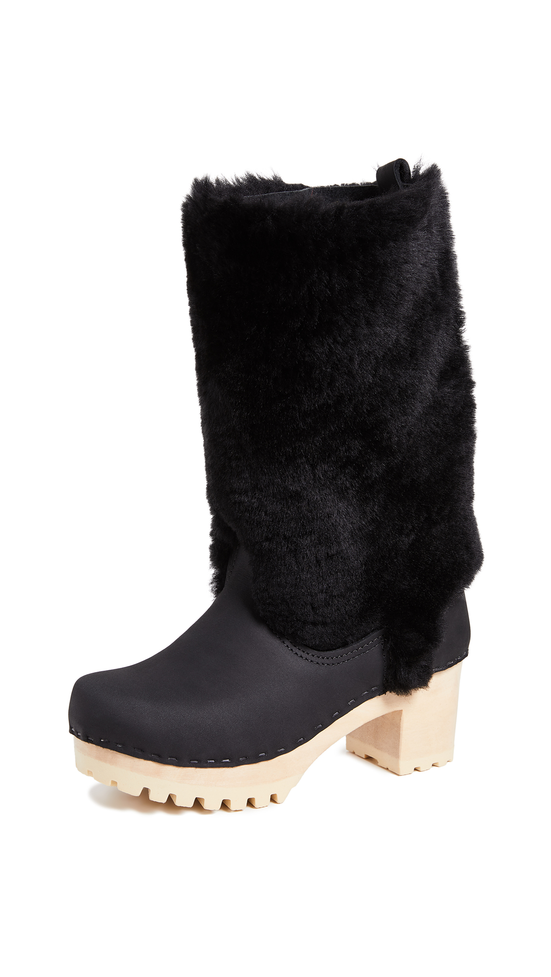 No.6 Alpha Shearling Boots - Midnight/Black