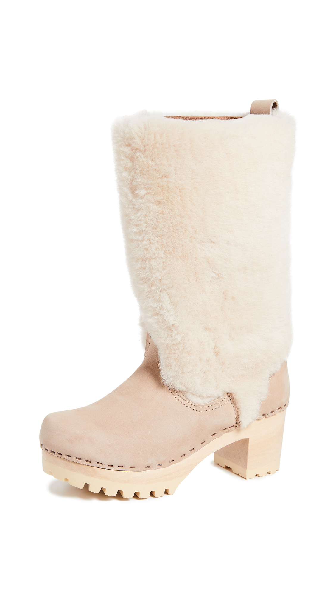 NO. 6 Alpha Shearling Boots in Bone/Cream