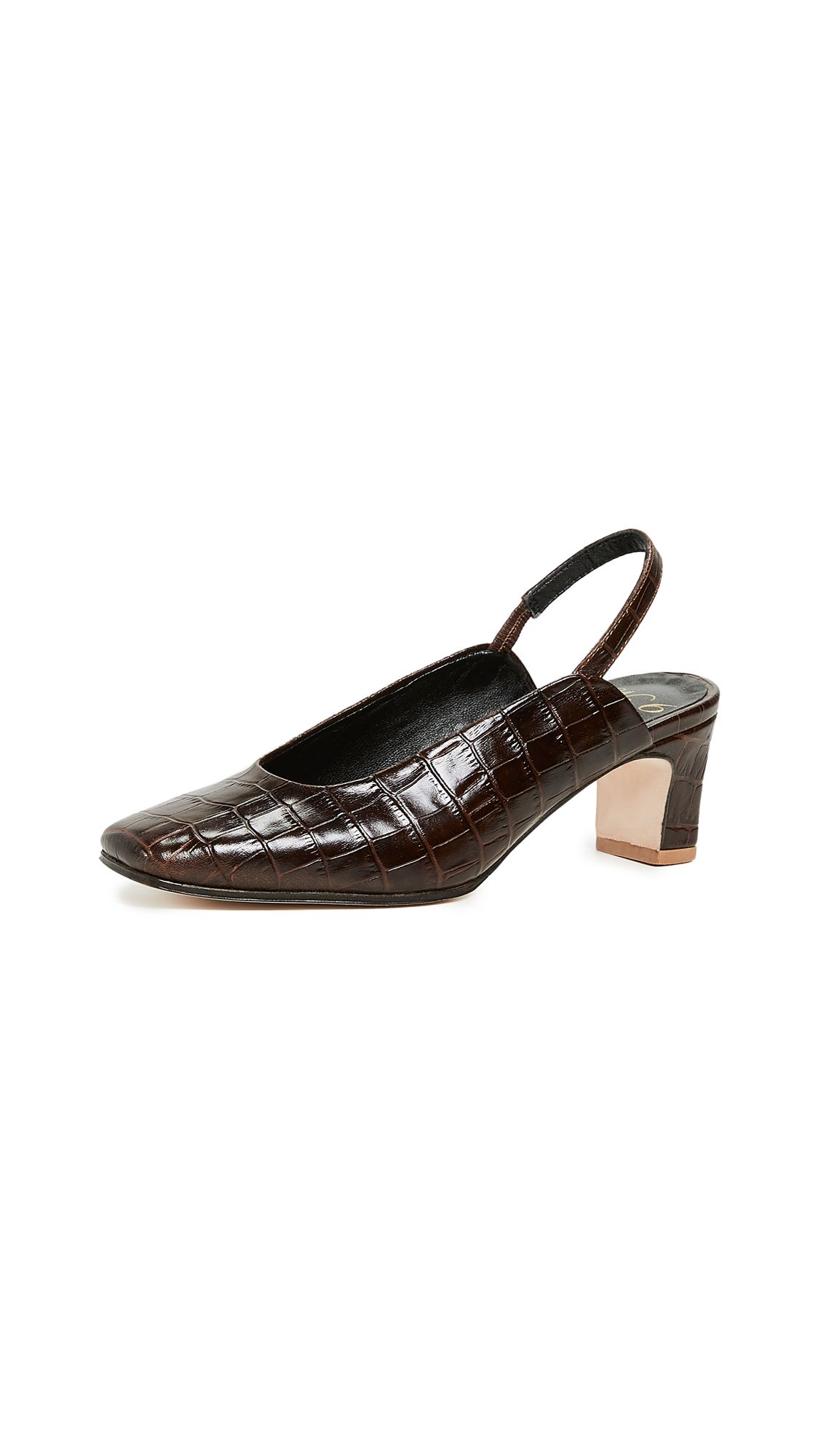 NO. 6 Renee Slingback Pumps in Coffee