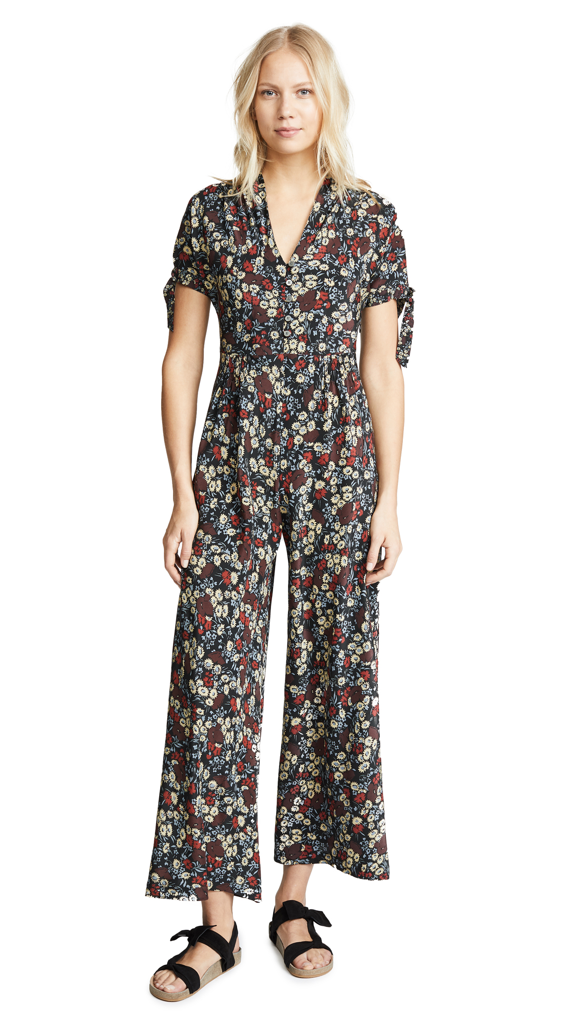 No.6 Althea Jumpsuit In Large Cherry London Floral