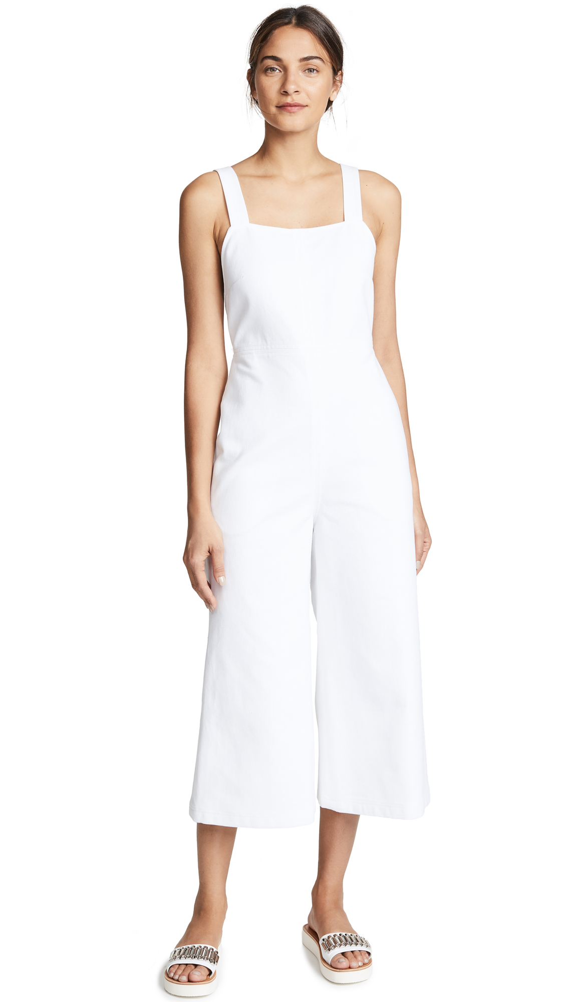 No.6 Dublin Cross Back Overalls In White
