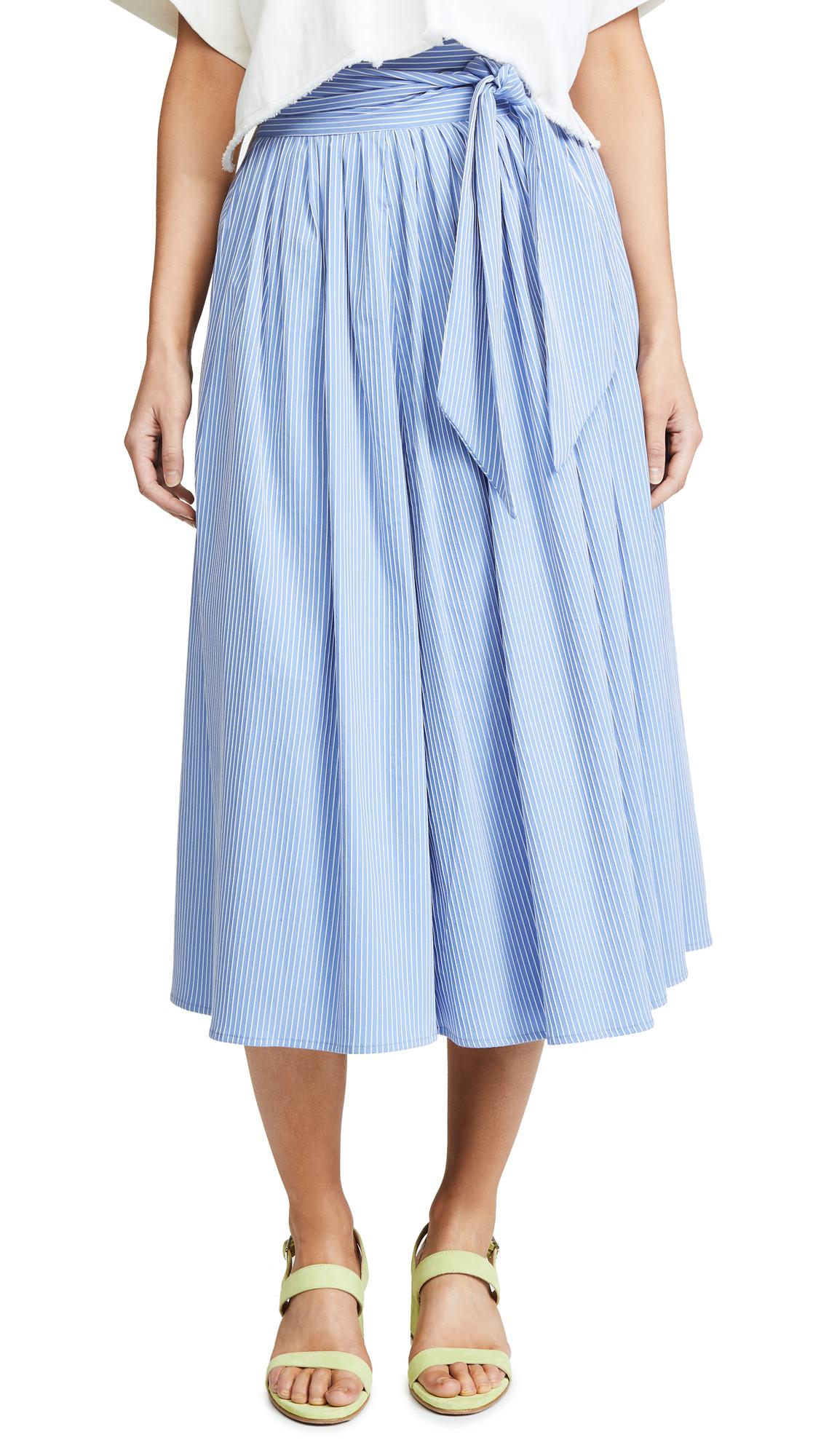 No.6 Scarlett Wrap Skirt In China Blue