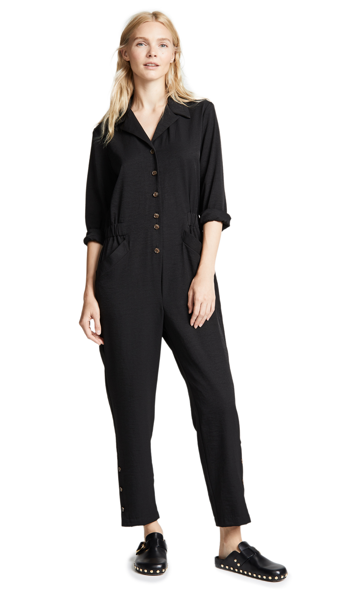 NO. 6 Hugo Coveralls in Black